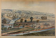 Print by artist Elizabeth Tackle who lived in Bradford on Avon and painted scenes of Bradford on Avon and the Avon valley during the and Bradford On Avon, Museum Art Gallery, Creative People, Serendipity, Things To Come, Artist, Painting, Painting Art, Paintings