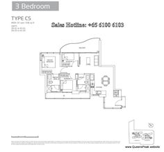 queens peak floor plan 3 bedroom-c5