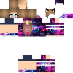 texture Everyone loves Minecraft because of some easy factors, possession, replayability and ease of use. Minecraft Skins Galaxy, Hd Minecraft, Skins For Minecraft Pe, Capas Minecraft, Psycho Girl, Horse Armor, Galaxy Cat, Purple Glass, Nova