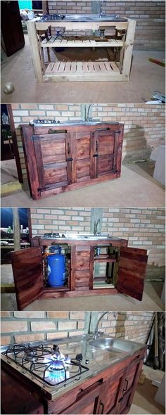 Having a suitable and yet simple creation of wood pallet kitchen island table structure do comes out to be one of the most cheapest idea of the wood pallet creations. It is a simple plank of wood pallet that is being shaped into the concept of the low bottom form of the artwork designs.