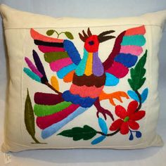 Mexican Throw Pillows – Pillow Quetzal Bird