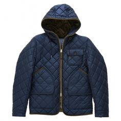 Gant's Quilted Mens Jacket. Men's Fall Winter Fashion.