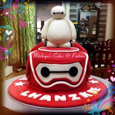 Big Hero 6 Baymax Cake Topper How to by Pink Cake Princess