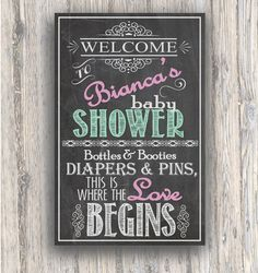Baby Shower Entrance sign - Chalkboard style