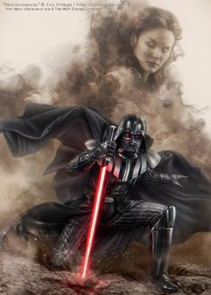 Do you think Darth Vader ever regrets turning to the Dark Side for Padme Amidala? Star Wars Fan Art, Star Wars Film, Star Wars Poster, Anakin Vader, Vader Star Wars, Anakin Skywalker, Star Wars Pictures, Star Wars Images, Epic Pictures