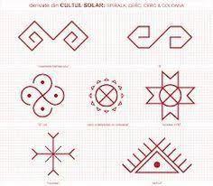 Imagini pentru simboluri dacice Folk Embroidery, Embroidery Patterns, Cross Stitch Patterns, Floral Embroidery, Old Symbols, Ancient Symbols, Doodle Sketch, Symbolic Tattoos, Traditional Art