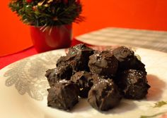 Chocolate covered PB balls. Tasty & healthier than Reese's!