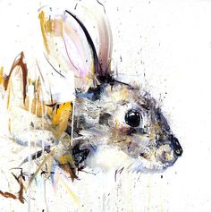 Rabbit - XL (Hand Finished Giclee Signed Limited Edition of 20) by Dave White