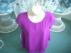 PRE OWNED Women's Layered Sheer Blouse Purple Sleeveless Top SMALL #Unbranded #Blouse #Career