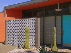 """I love the contrast of colors on the exterior of MCM home... """"Modern Living Palm Springs"""" capture by Randall Weidner"""