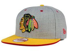 buy online 46667 6e071 Chicago Blackhawks New Era NHL Heather Team Color 9FIFTY Snapback Cap ( 15) Chicago  Blackhawks