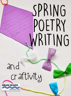Teaching Resources for Upper Elementary: Spring Poetry Writing and Craftivity