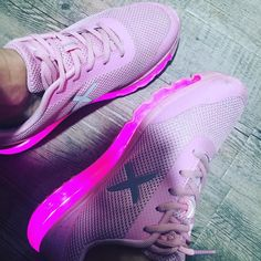 The light pink XRUN wize&ope #ledshoes #prettyinpink