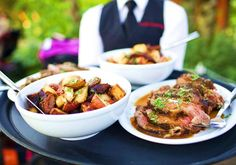Family Style Dinner service at Bridal Veil Lakes