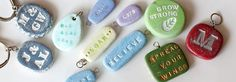 Stamped polymer charms. Infinite possibility.