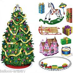 Magical Christmas Scene Setter Add-on - Tree & Gifts