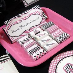 Diva Party Favor Mini Hershey Bar Wrappers by PrintCreateCelebrate.