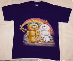 Items similar to New Unique Hand Painted Purple Forever Friends Bear T-shirt Size M on Etsy Bear T Shirt, Friends Forever, Hand Painted, Purple, Unique, Fabric, Painting, Shirts, Etsy