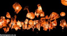Annual Lantern Festival held in Nieu-Bethesda - Pic by Karoo Space Local Brewery, Lantern Festival, The Donkey, New Years Eve, The Locals, Lanterns, Ceiling Lights, Explore, Space