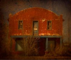 Available for sale from Contessa Gallery, Jack Spencer, West Texas Store Archival Pigment Print with Mixed Media Glaze, 36 × 43 in Heart Photography, Color Photography, Las Vegas, Artsy Photos, Artwork Images, Encaustic Art, Abandoned Buildings, Abandoned Places, Through The Looking Glass