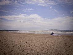 #summer #beach in #tylösand #sweden #windsurfing