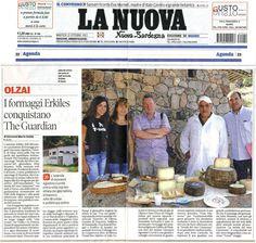 LA Strada del Vino Cannonau e il Caseificio Erkiles su La Nuova Sardegna