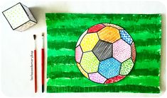 Coupe du monde : Graphisme et arts visuels. - La Classe de Marybop Aztec Mask, Keith Haring Art, Paper Mosaic, Principles Of Art, Mandala Coloring, Arts And Crafts Projects, Cool Posters, Collage Sheet, Original Artwork