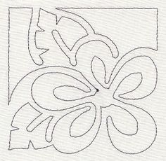 Machine Embroidery Mola Floral Quilting Corner (Single Run) Machine Embroidery Patterns, Applique Patterns, Applique Quilts, Applique Designs, Quilting Designs, Hawaiian Quilt Patterns, Hawaiian Quilts, Quilting Stencils, Reverse Applique