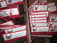 Make some reindeer noses to give to your class or friendship group for Christmas. Reindeer noses are unbelievably cute and simple to put together. Christmas Craft Fair, Christmas Favors, Christmas Eve Box, Christmas Activities, Christmas Printables, All Things Christmas, Xmas Gifts, Christmas Holidays, Reindeer Noses