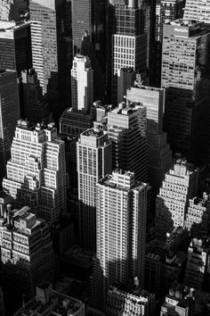 Free stock photo of black-and-white, city, buildings, skyscrapers