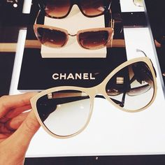 Chanel Cream Cat Eye Sunglasses Spotted on Ray Ban Sunglasses Sale, Chanel Sunglasses, Sunglasses Outlet, White Sunglasses, Sunglasses Online, Sunglasses 2016, Discount Sunglasses, Luxury Sunglasses, Style Casual