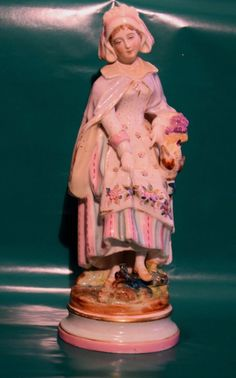 Antiques Dresden porcelain peasant statue - figure 1860 ca