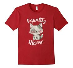 Equality Meow Funny Feminist Cat T-Shirt