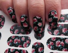 PINK ROSES on Black Nail Art (PRB) Full Nail Wrap Waterslide Decals  ♦ℬїт¢ℌαℓї¢їøυ﹩♦
