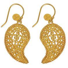 The Met Store -  Byzantine Paisley Pendant Earrings