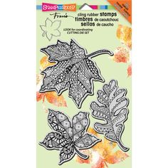 Stampendous-Cling Rubber Stamps. These are the same premium quality precision trimmed rubber stamps as the Stampendous wood-mounted version.    This package contains Penpattern Leaves: three cling rubber stamps on one 7x5 inch backing sheet.