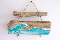 Beach Decor Ocean Wave Lobster Beach Sign on by MangoSeed on Etsy, $35.00