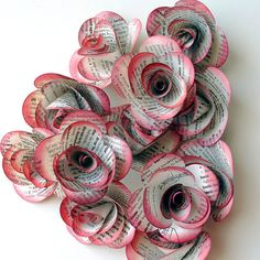 217 best book page and other paper flowers images on pinterest handmade paper flowers better with the color on them dont you mightylinksfo