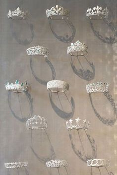 Vintage Chaumet tiaras on display