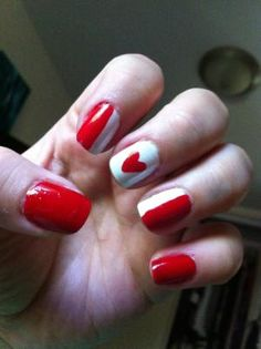 Canada day nails by elva