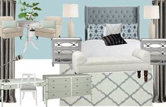 Adventures In Creating: A Shabby Glam Bedroom Design Condo Design, Mood Board Living Room, Bedroom Design, Glam Living Room Decor, Glam Bedroom, Glam Living Room, Glam Living, Room, Room Decor