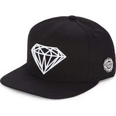 2a325154506 Diamond Supply Co. Logo embroidery cotton snapback (64 CAD) ❤ liked on  Polyvore featuring men s fashion