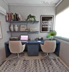 35 Amazing Farmhouse Desk For The Home Office - Small Home Offices, Home Office Space, Home Office Desks, Desk For Two, Farmhouse Desk, Farmhouse Furniture, Guest Room Office, Guest Rooms, Office Furniture Design