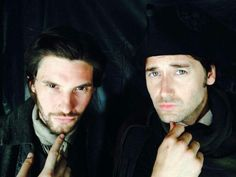 """Ben Barnes and Ryan Eggold looking cute for the camera ♡ """"Sons of Liberty"""""""