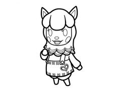 animal crossing coloring pages 2