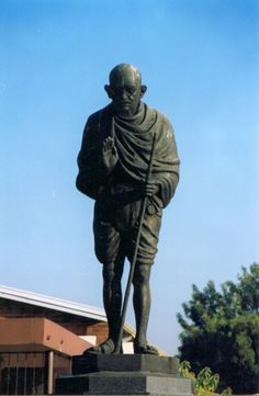 I Am An African, Kwazulu Natal, Walkabout, Dundee, South Africa, Statue, Gandhi, Superhero, History