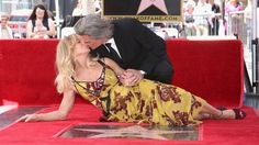 Goldie Hawn and Kurt Russell kiss at a ceremony honoring the couple each with stars on the Hollywood Walk of Fame on Thursday, May in Los Angeles. (Photo by Richard Shotwell/Invision/AP Hollywood Couples, Hollywood Walk Of Fame, Celebrity Couples, Hollywood Stars, Hollywood Celebrities, Goldie Hawn Kurt Russell, The First Wives Club, Secret Of Love, Stars D'hollywood