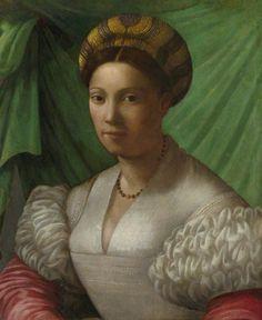 ab. 1535-50 Florentine School - Portrait of a Young Lady