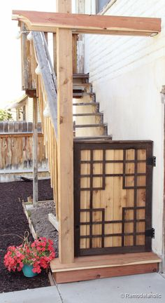 DIY Outdoor Baby Gate Cool as just a garden gate too!