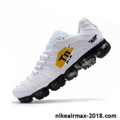 Hot Nike Air VaporMax TN KPU Mens Sneaker White Black For Sale Sneakers Nike, Nike Shoes, Nike Air Vapormax, Nike Huarache, Designer Shoes, Chill Mood, Jordans, Footwear, Shoe Game